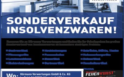 16.07.2021 + 17.07.2021 Sonderverkauf Insolvenzwaren Hörmann Verwertungen Filzingen